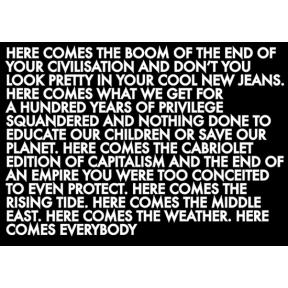 mono.editionen #04 / Robert Montgomery: Here Comes the Boom